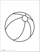 Effortless image regarding beach ball printable