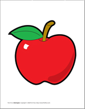 Apple Pattern  Red  Green Red Apple Template