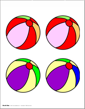 graphic relating to Beach Ball Printable referred to as Pre-K Pleasurable